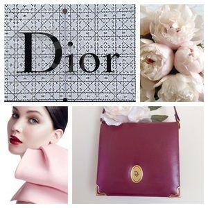 Christian Dior Handbags - CHRISTIAN DIOR Vintage Red Cross Body Shoulder Bag