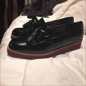 ZARA Patent Loafers size 40