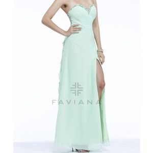 Faviana Dresses & Skirts - PASTEL FAVIANA PROM DRESS **accepting all offers**