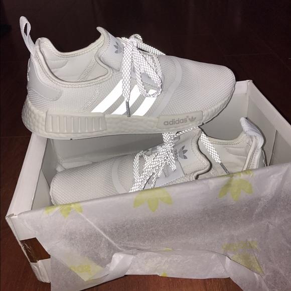 09abdcbec6e42 Adidas Shoes - White Adidas NMD reflective