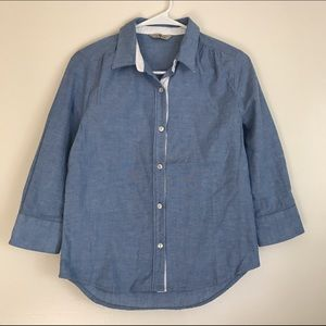 7 For All Mankind Tops - 7 for all mankind 3/4 sleeves denim shirt size xs