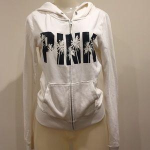 PINK Victoria's Secret Jackets & Blazers - PINK white zip up sweater