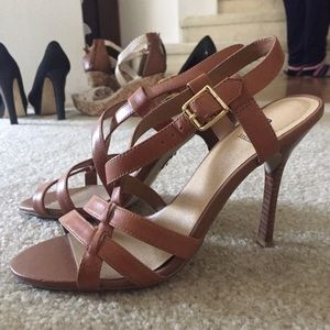 Bakers Shoes - Tan Stiletto Sandals
