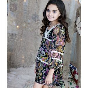 Hannah Banana Other - 🚺👗Girls 4-16 Printed Chiffon Dress TRULY ME