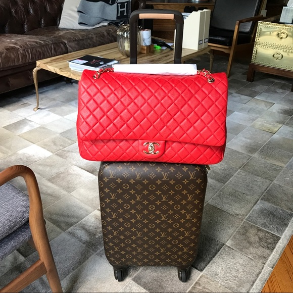chanel 2017 handbags. 🚫sold🚫 chanel 2017 airlines xxl flap bag rare chanel handbags