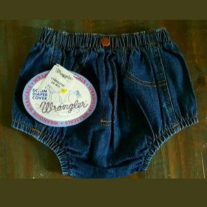 Wrangler Other - Wrangler Wrascals washed indigo diaper cover NEW