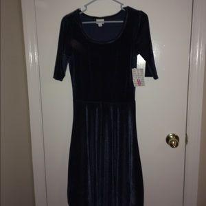LuLaRoe Dresses & Skirts - LuLaRoe Navy Blue Elegant Nicole NWT