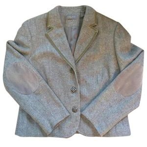 Kate Hill Jackets & Blazers - Kate Hill Tweed Wool Jacket with Elbow Patches