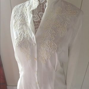 Beautiful lacy vintage blouse