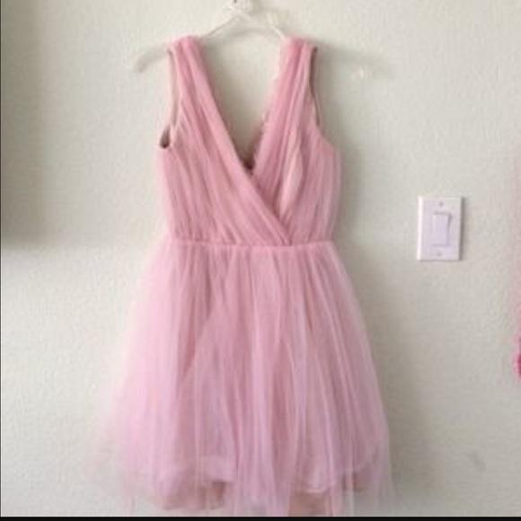 Zara Dresses | Rare Pink Tulle Dress | Poshmark