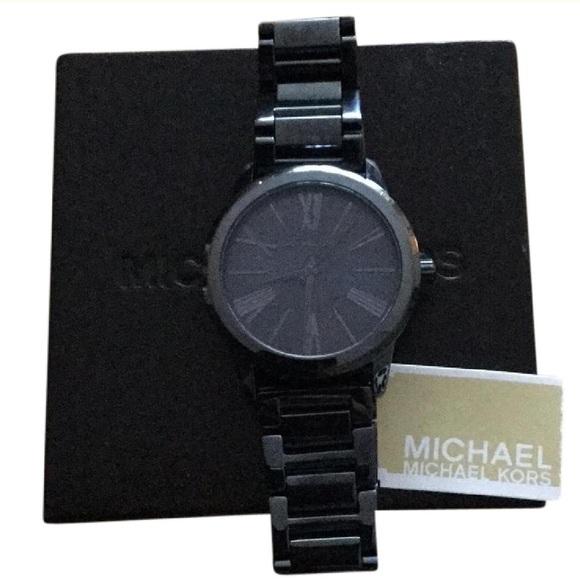 Michael Kors Accessories - NWT in box Michael Kors gunmetal Watch. All links