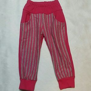 Other - 🎉SALE🎉Pink Front Stripes Sweatpants