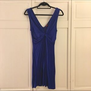 Forever 21 Dresses & Skirts - Forever 21 Low V Neck Blue Knit Dress