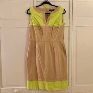 Alex Marie Dresses & Skirts - Alex Marie Khaki and Highlighter Yellow Dress!