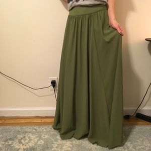 Anthropologie Dresses & Skirts - Edme & Esyllte Anthropologie Green Maxi Skirt