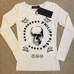 Philipp Plein Tops - Philipp Plein skull t Shirt Gothic stile