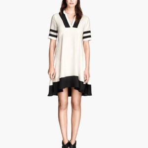 Contrast Colorblock Trapeze Swing Shift Dress Full