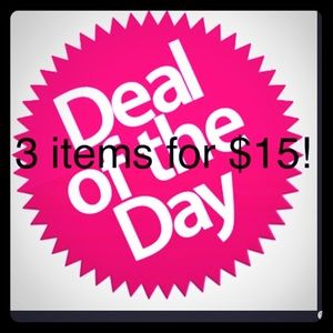 3 items for $15! NEW ITEMS posted today!