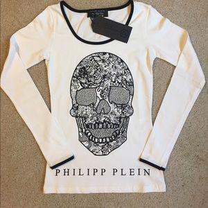 Philipp Plein Tops - Philipp Plein Gothic skull t Shirt