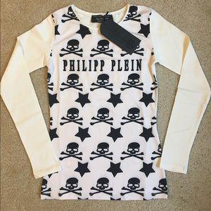 Philipp Plein Tops - Philipp Plein skulls Embellished With Rhinestones