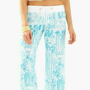 Lilly Pulitzer Beach Pant in La Via Loca XL