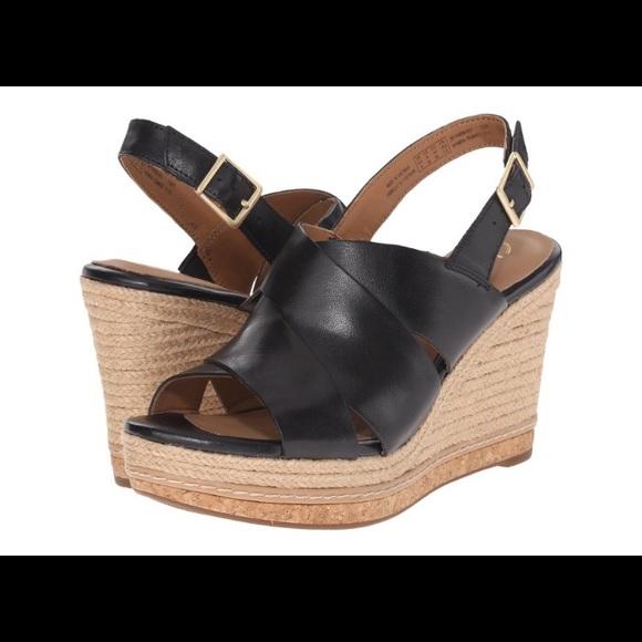 d37a0ea1558b9c Clarks Amelia Dally black wedge sandal 6.5 NIB