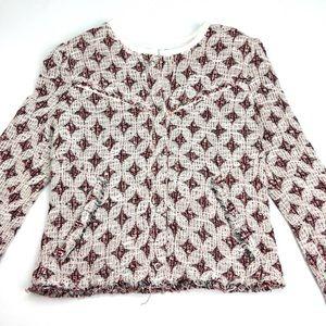 IRO Jackets & Blazers - IRO Red Diamond Patterned Jacket