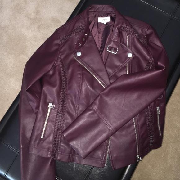6f7650b1e2970 Cato Jackets   Blazers - Dark purple leather jacket
