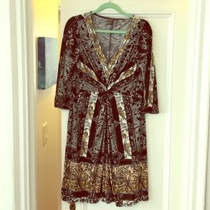 Muse Dresses & Skirts - Muse black, brown and ivory dress
