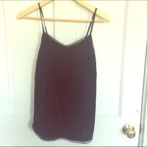 cf555343393 Who What Wear for Target Tops - Velvet Lace Trim Cami