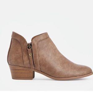 JustFab Shoes - Tan Booties