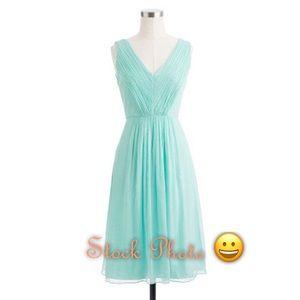 J. Crew Factory Dresses & Skirts - ✨J. Crew✨Aqua Chiffon V-Neck Dress✨