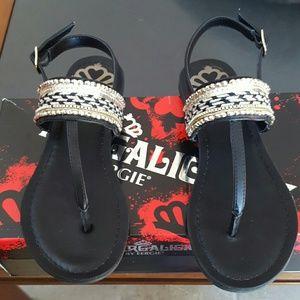 Fergalicious Shoes - Fergalicious Frazzle beaded thong sandals 5 NIB
