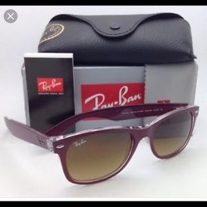 Ray Ban New Wayfarer dark purple/clear