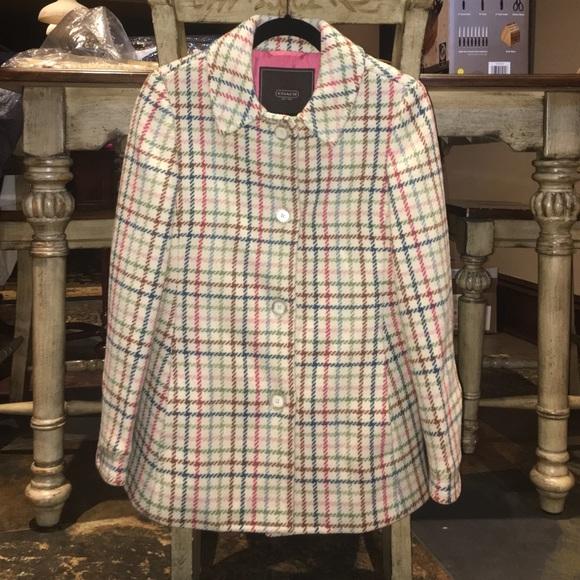 dbd7a2f97d6 Coach Jackets   Blazers - Coach 100% Wool Tattersall pea coat