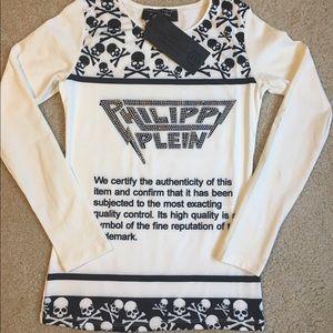 Philipp Plein Tops - Gothic Philipp Plein skull t Shirt