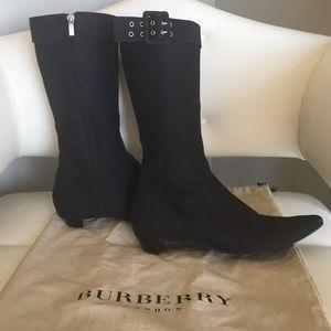 Black Burberry boots