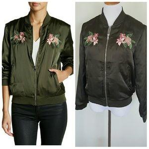 Romeo + Juliet Couture satin bomber jacket