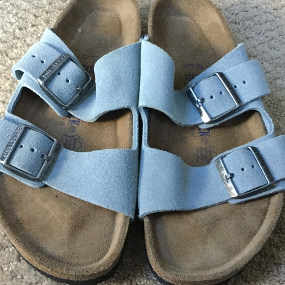 8b8c425f2b86 Birkenstock Shoes - Excellent Birkenstock Light Blue Suede 39