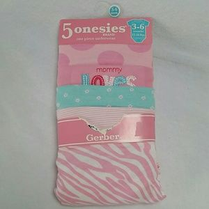 Gerber Other - Baby Girl Onesies 5 Pack! NEW!