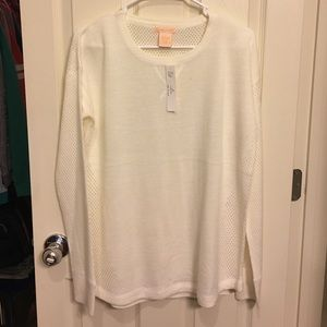Sweet Romeo Tops - Sweet Romeo cream sweater top