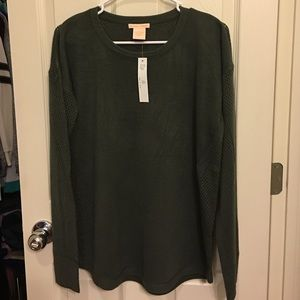 Sweet Romeo Tops - Sweet Romeo dark green sweater top