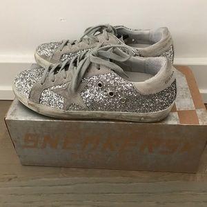 Golden Goose Shoes - Golden goose deluxe silver glitter, IT 37