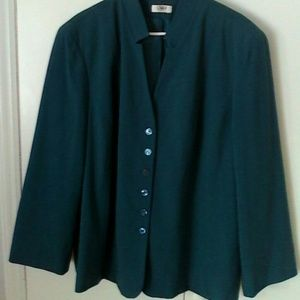 Cato Woman Jackets & Blazers - Teal Jacket Cato Woman Plus 22W 24W Lined
