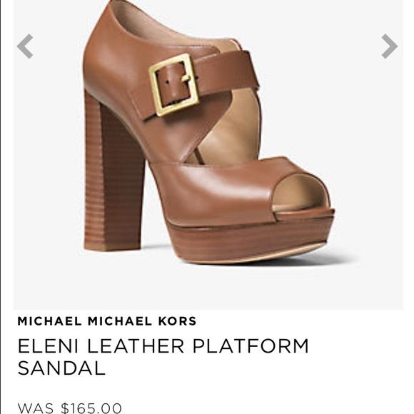 c7f2bbd53f9 Michael Michael Kors Eleni platform heels. M 587279512de512091c00cc14
