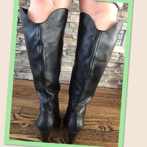 Dolce Vita black leather boots size 7