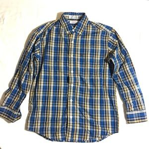 Izod Other - Boy's blue plaid button-up long sleeve