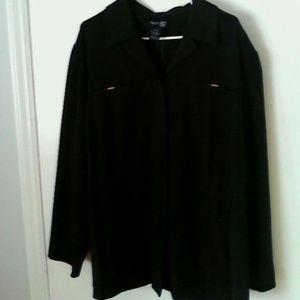 Venezia Tops - Womans Plus Black Venezia Jean  Shirt Jacket 22/24