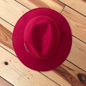 Accessories - Red Wide Brim Hat