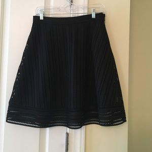 J. Crew Striped Eyelet Skirt